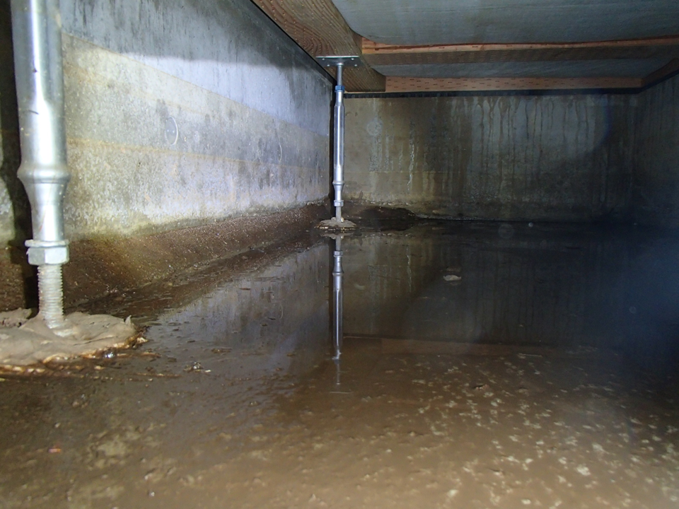床下の水漏れ